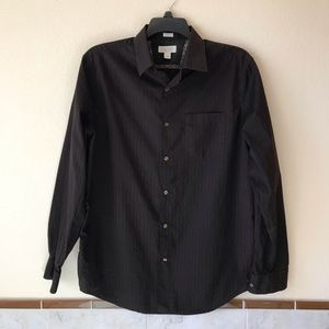 Banana Republic Mens Long Sleeve Shirt Dark Brown